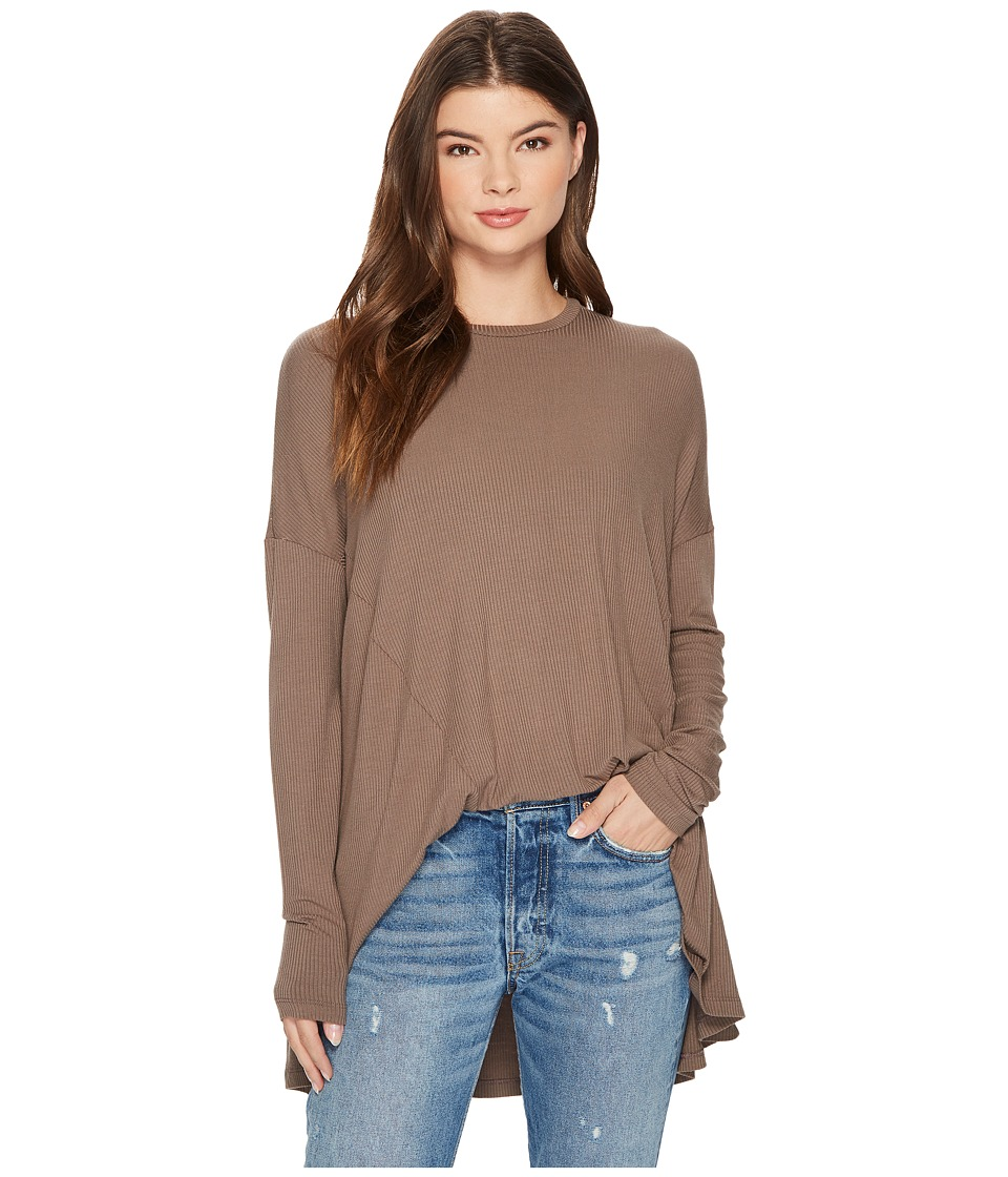 Show Me Your Mumu Will Tunic (Slinky Rib Chocolate) Women's Blouse