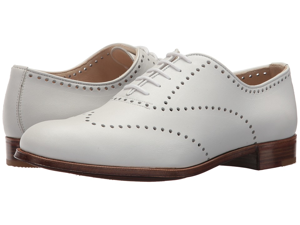 Gravati Perforated Wing Tip (White) Women