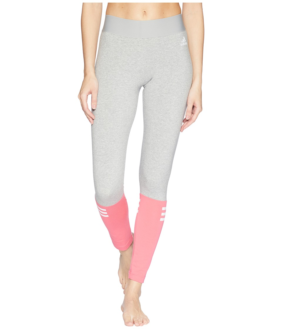 adidas Sport ID Tights (Medium Grey Heather/Real Pink) Women