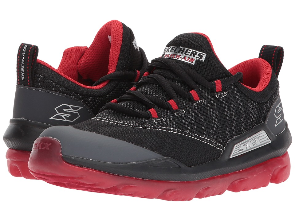 SKECHERS KIDS - Skech-Air 97580L (Little Kid/Big Kid) (Black/Red) Boy's Shoes