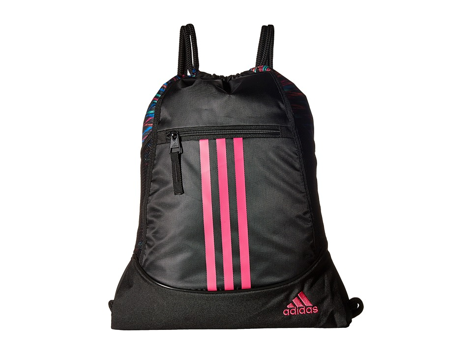 adidas - Alliance II Sackpack (Black Twister/Black/Shock Pink) Bags