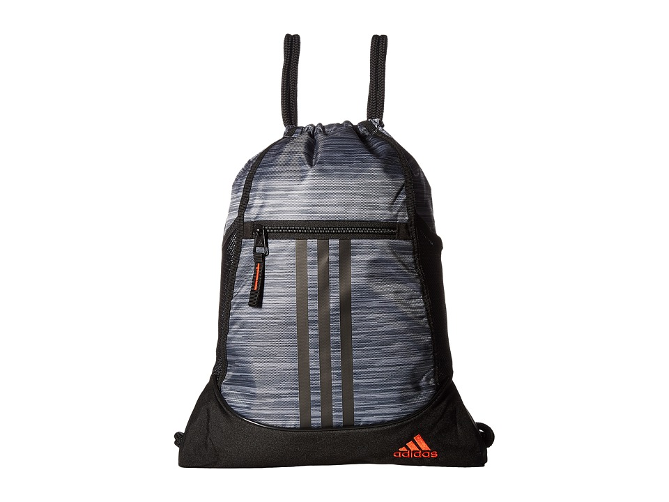 adidas - Alliance II Sackpack (Onix Looper/Black/Blaze Orange) Bags