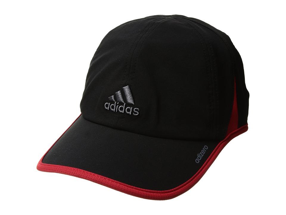 adidas - Adizero II Cap (Black/Scarlet/Onix) Caps