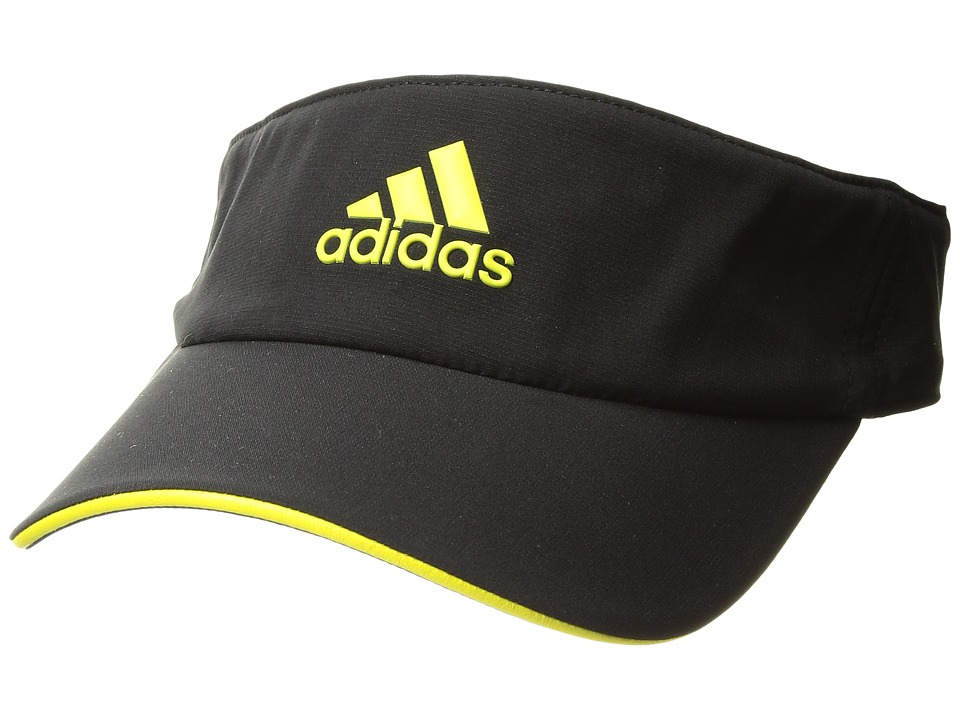 adidas - Tennis ClimaLite Visor (Black/Bright Yellow/Bright Yellow) Casual Visor