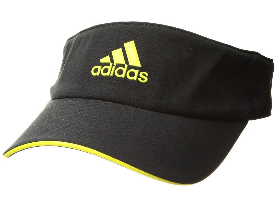 adidas - Tennis ClimaLite Visor (Black/Bright Yellow/Bright Yellow) Casual Visor