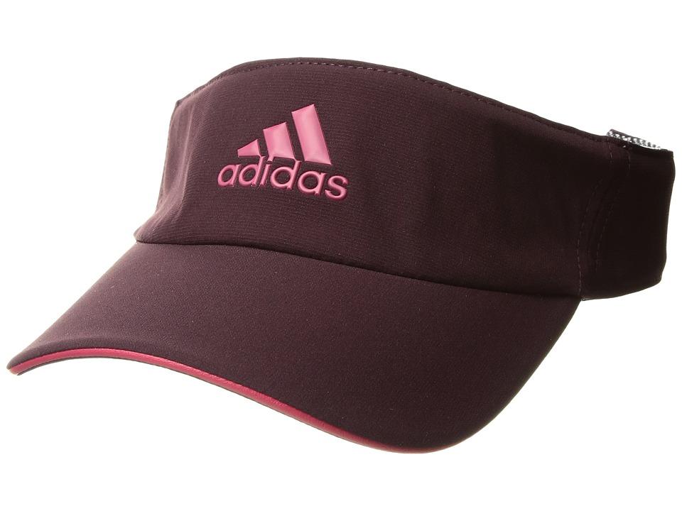 adidas - Tennis ClimaLite Visor (Dark Burgundy/Energy Pink/Energy Pink) Casual Visor