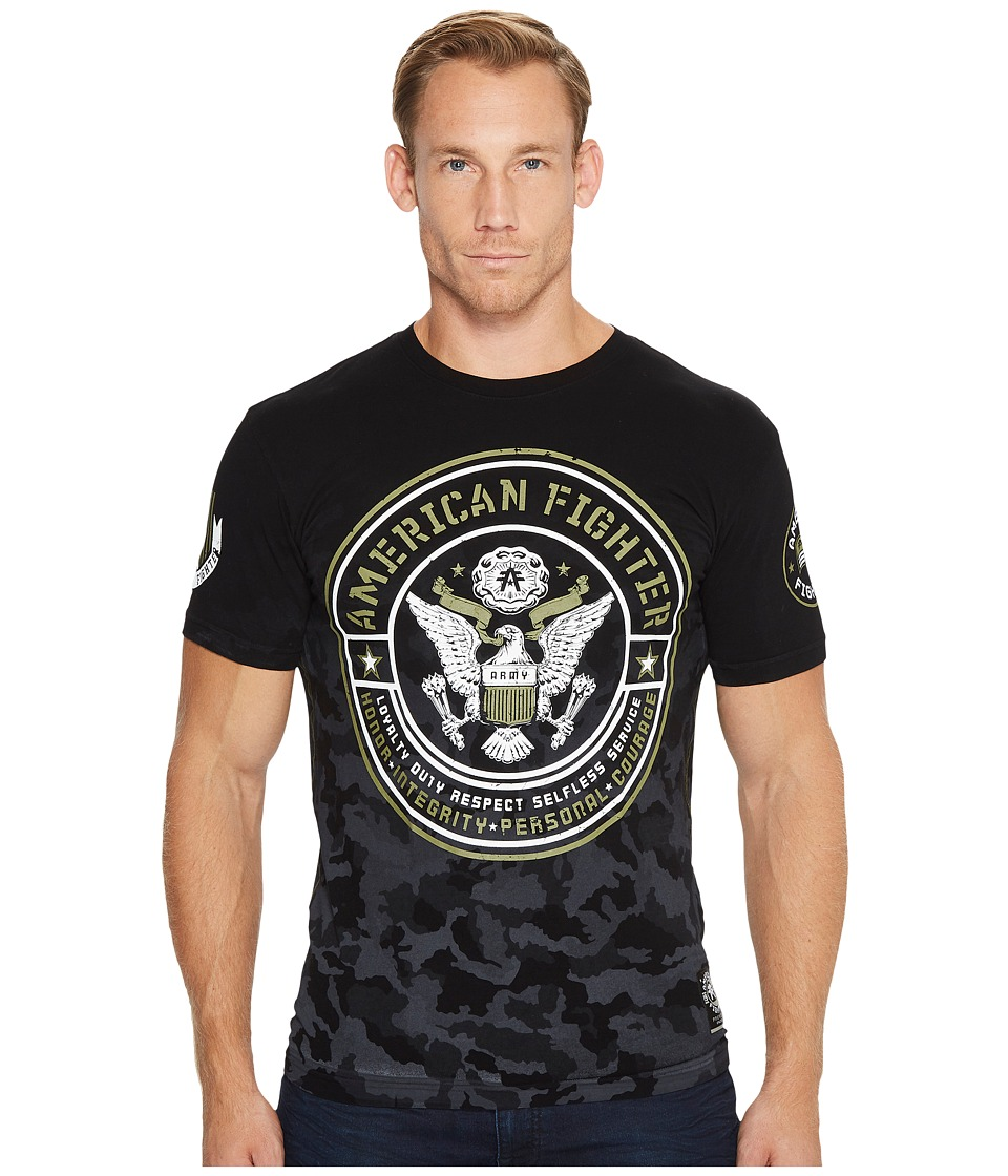 Image of American Fighter - Army Short Sleeve Tee (Black) Men's T Shirt