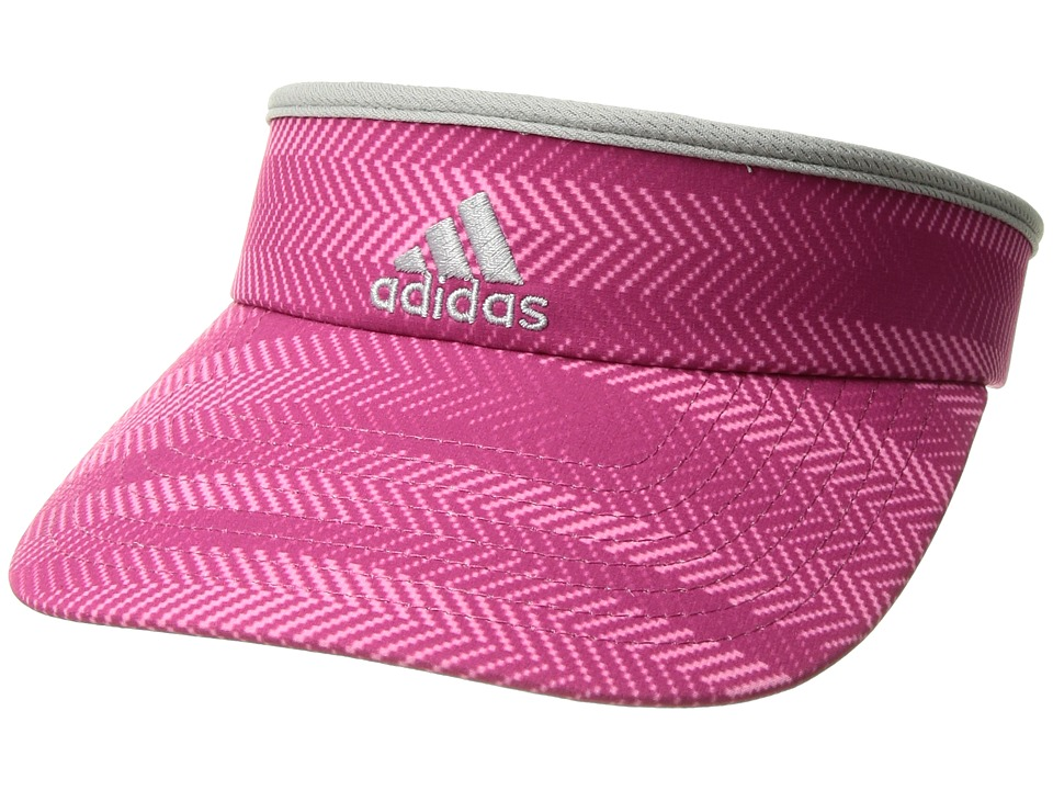 adidas - Match Visor (Ratio Print Bahia Magenta/Clear Onix/Grey) Casual Visor