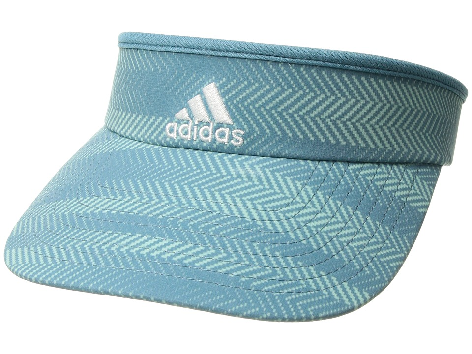 adidas - Match Visor (Ratio Print Tactile Steel Blue/White) Casual Visor