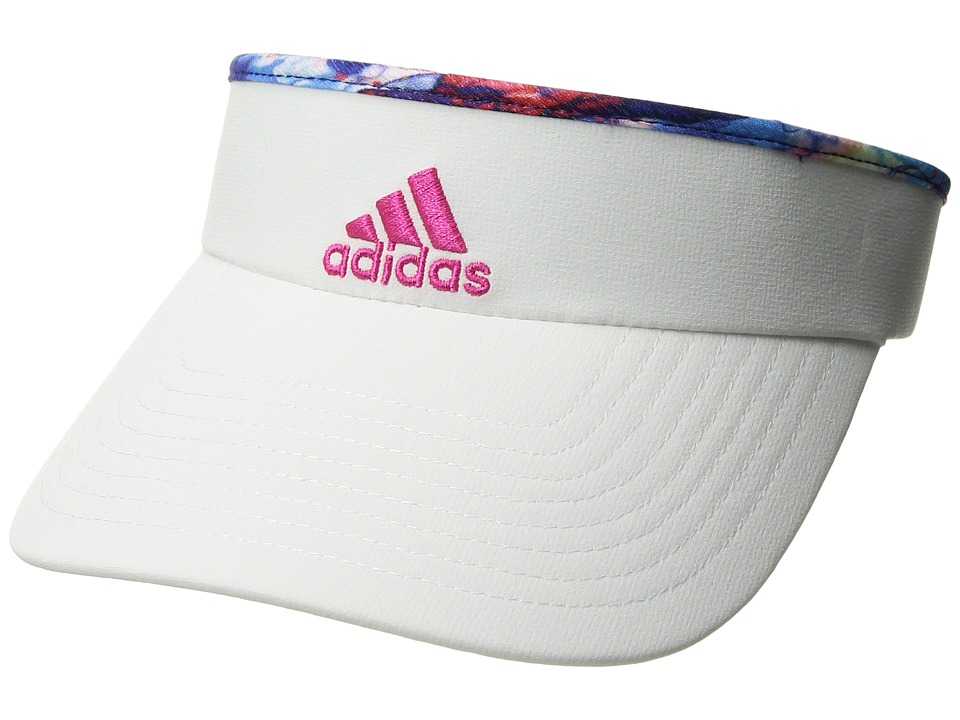 adidas - Match Visor (White/Jodo Print/Shock Pink) Casual Visor