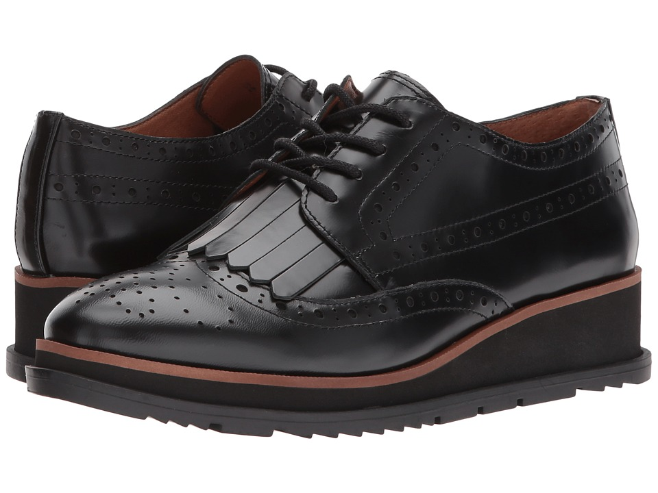 Franco Sarto Autumn by SARTO (Black Box Leather) Women's Lace Up Wing Tip  Shoes