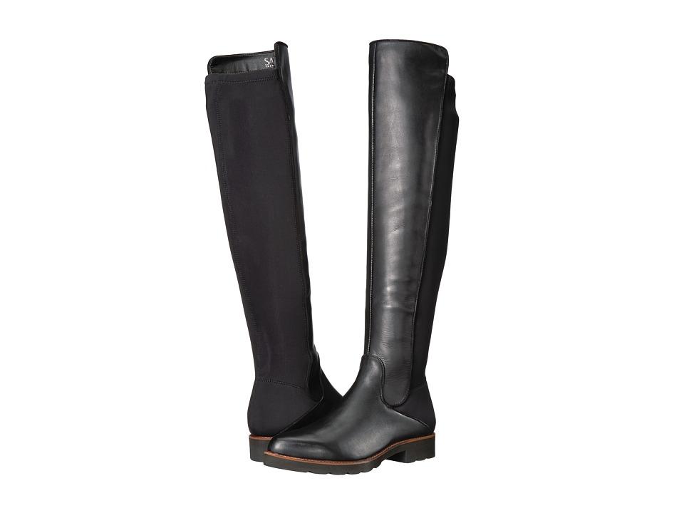 Franco Sarto Benner by SARTO (Black Leather/Stretch Lycra) Women