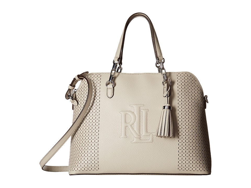 LAUREN Ralph Lauren - Dome Satchel (Beige) Satchel Handbags