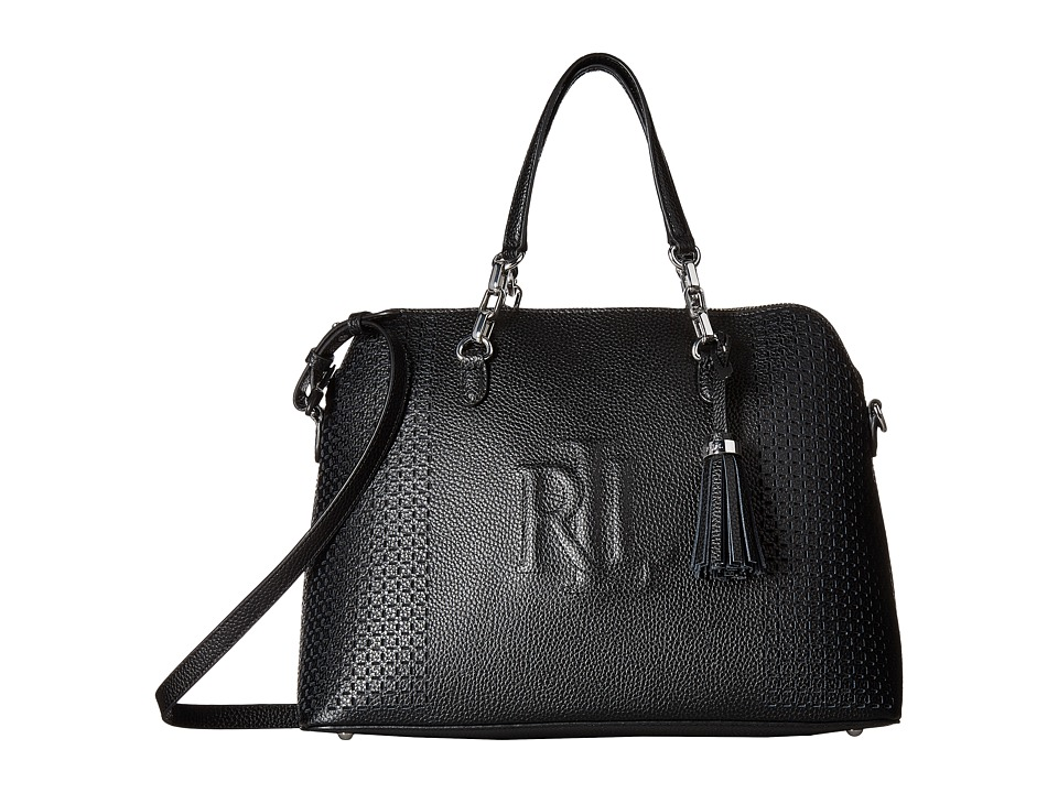 LAUREN Ralph Lauren - Dome Satchel (Black) Satchel Handbags