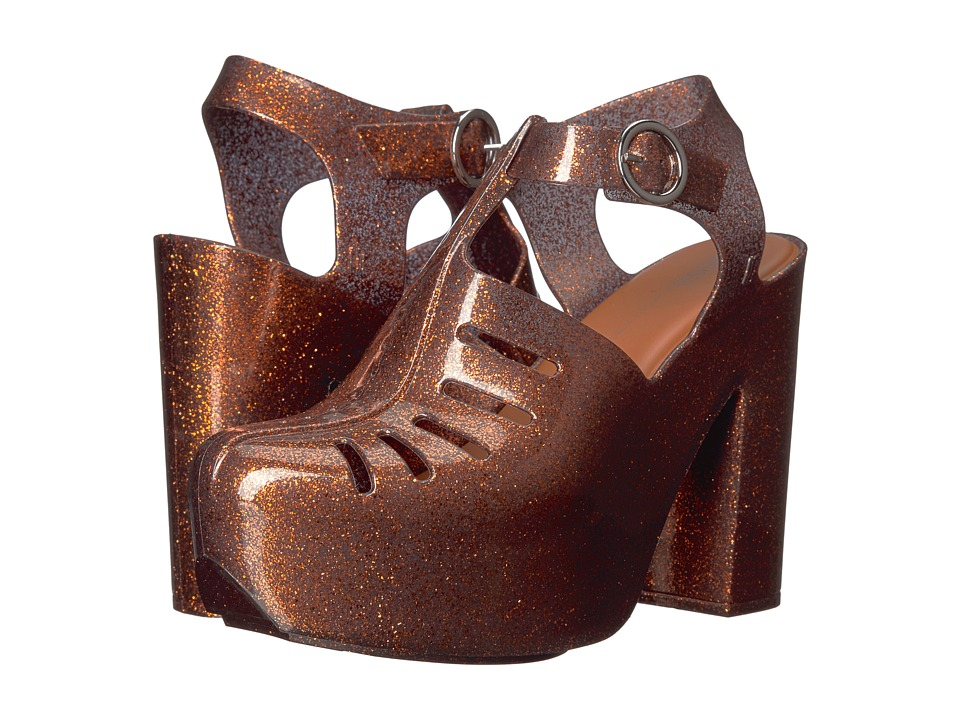 Melissa Shoes - Aranha 79 16 Heel (Bronze Glitter) Women's Shoes