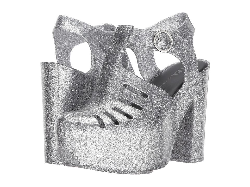 Melissa Shoes - Aranha 79 16 Heel (Silver Glitter) Women's Shoes