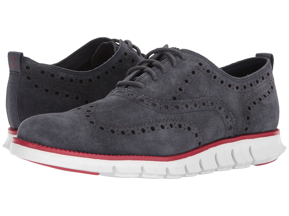 Cole Haan Zerogrand Wingtip Ox Closed II (India Ink/Optic White) Men