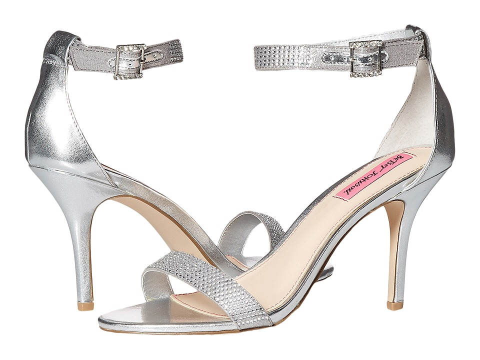 Betsey Johnson Brodway (Silver Metal) High Heels
