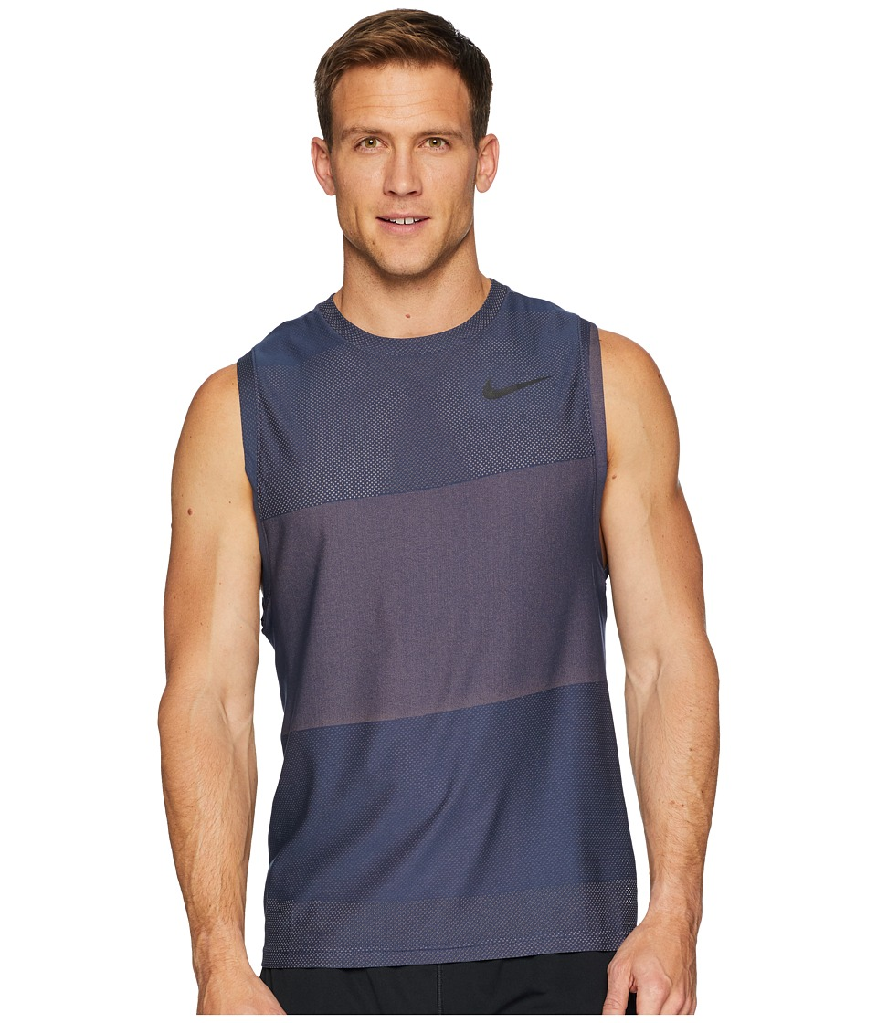 Nike Breathe Tank Top Hyper Vent (Thunder Blue/Hyper Crimson/Black) Men