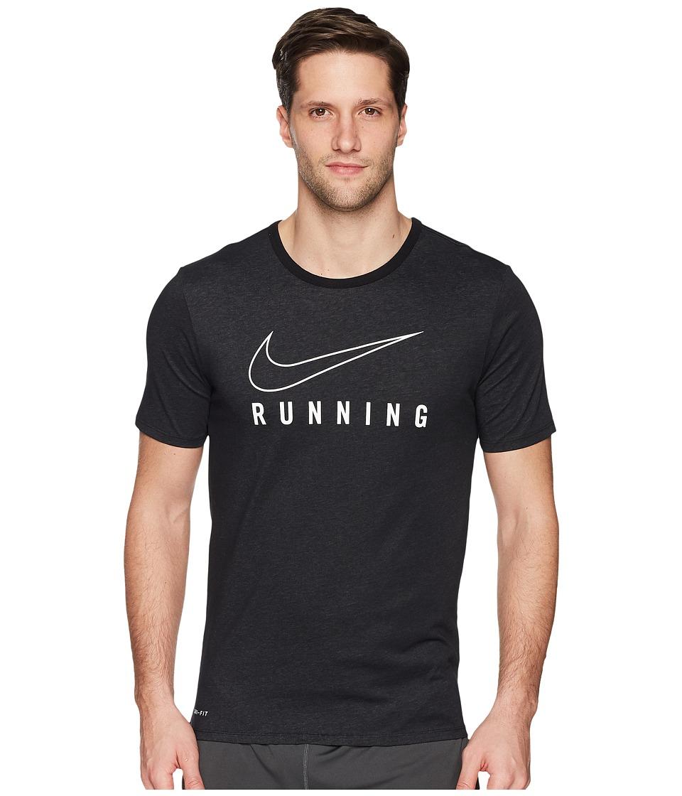 Nike Dry Tee Dri-FITtm STMT Brand Mark (Black/White) Men