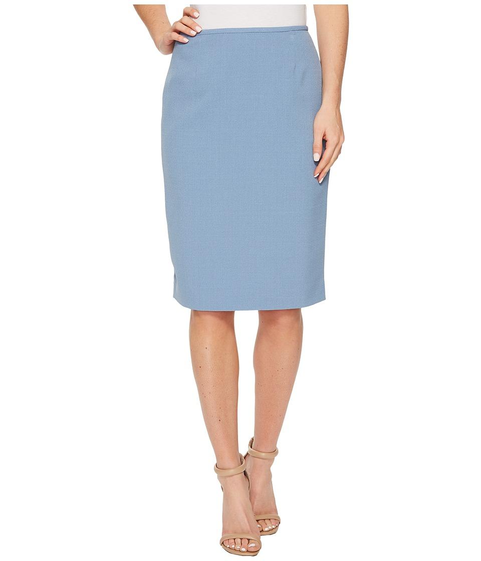Tahari by ASL Crepe Pencil Skirt (Lago Blue) Women