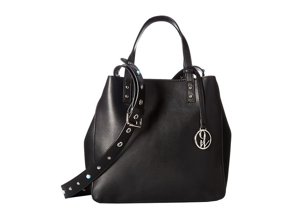 Nine West - The Big City (Black/Black/White) Handbags