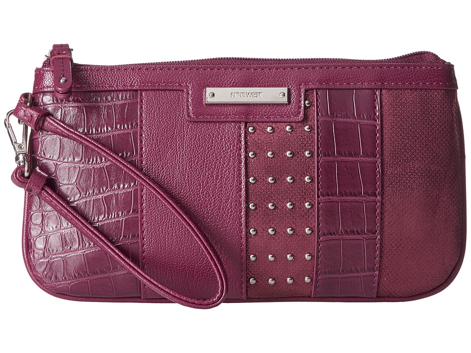 Nine West - Pretty Wristlet (Crimson) Handbags