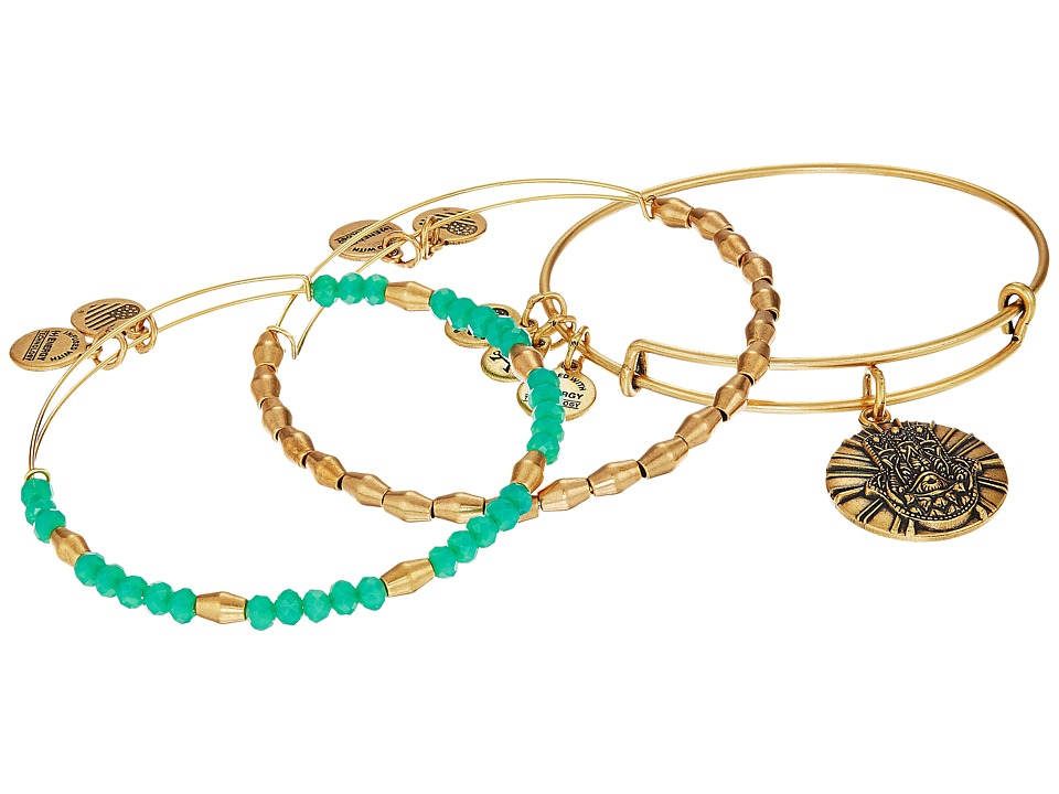 Alex and Ani - Hand of Fatima Bracelet Set of 3 (Green) Bracelet