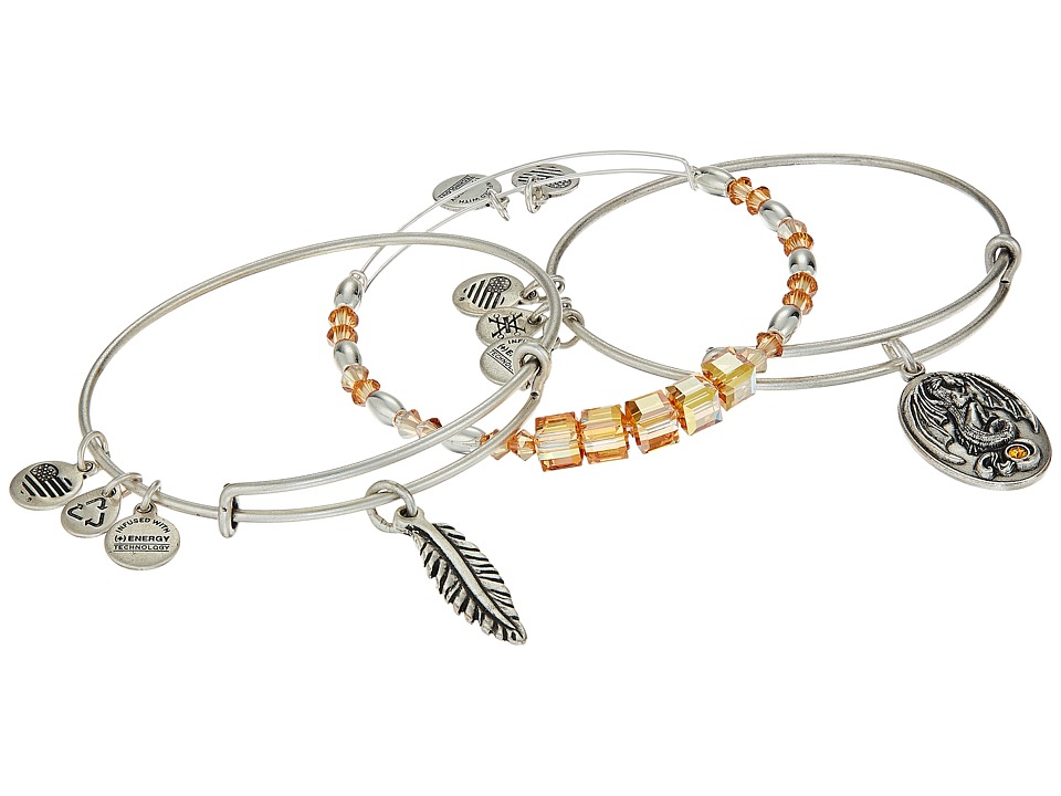 Alex and Ani - Glowing Dragon Bracelet Set of 3 (Orange) Bracelet