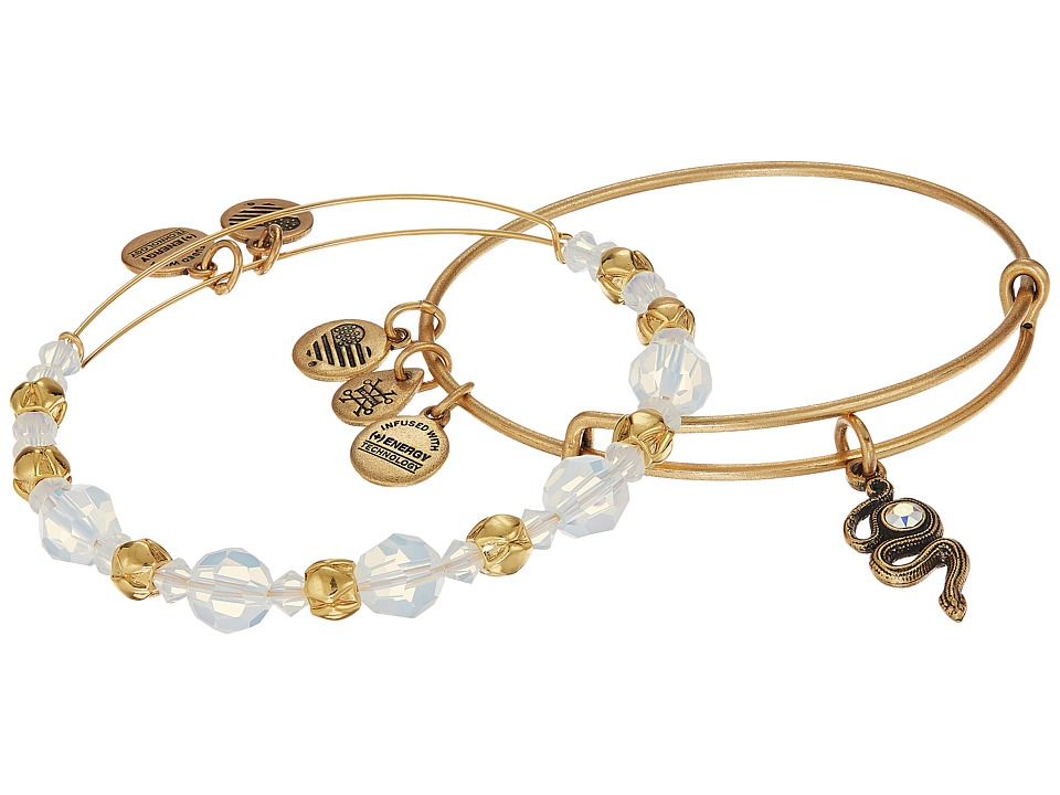 Alex and Ani - Crystal Snake Bracelet Set of 2 (Clear) Bracelet