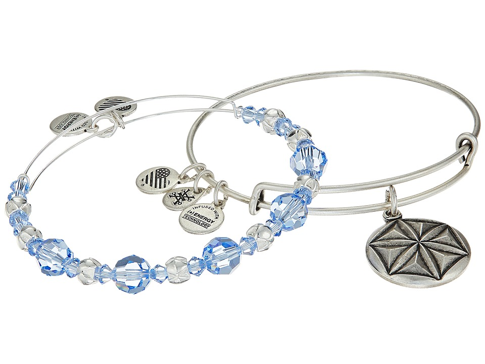 Alex and Ani - Aphrodite's Flower Bracelet Set of 2 (Blue) Bracelet