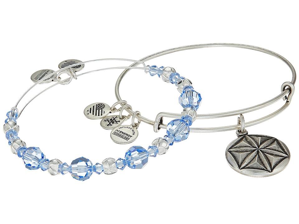 Alex and Ani - Aphrodite's Flower Bracelet Set of 2 (Blue) Bracelet