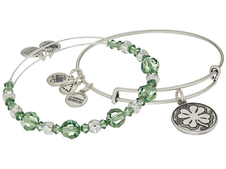Alex and Ani - Four Leaf Clover Bracelet Set of 2 (Green) Bracelet