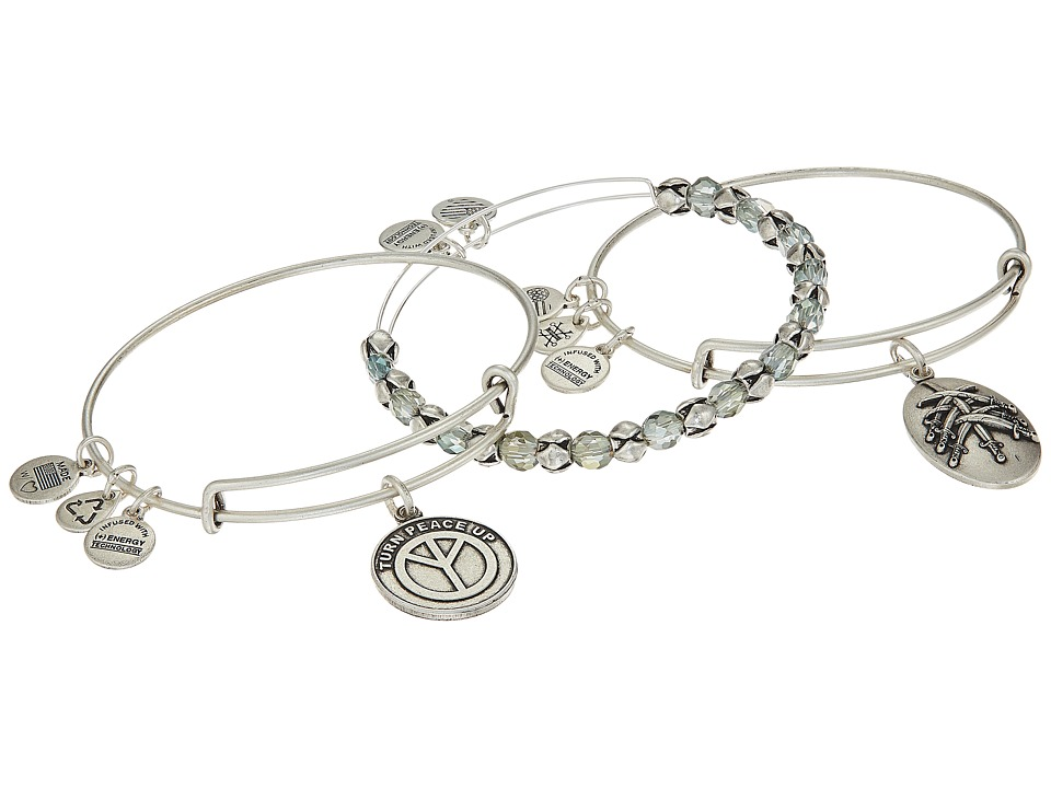 Alex and Ani - Peace Bracelet Set of 3 (Green) Bracelet