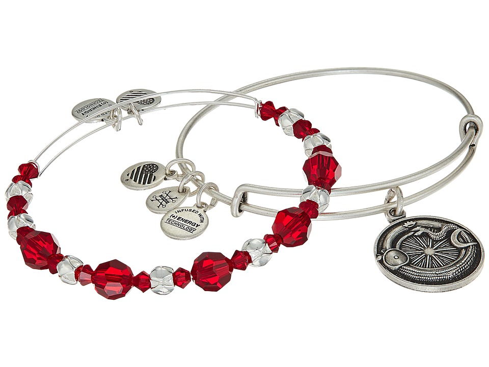 Alex and Ani - Ouroboros Bracelet Set of 2 (Red) Bracelet