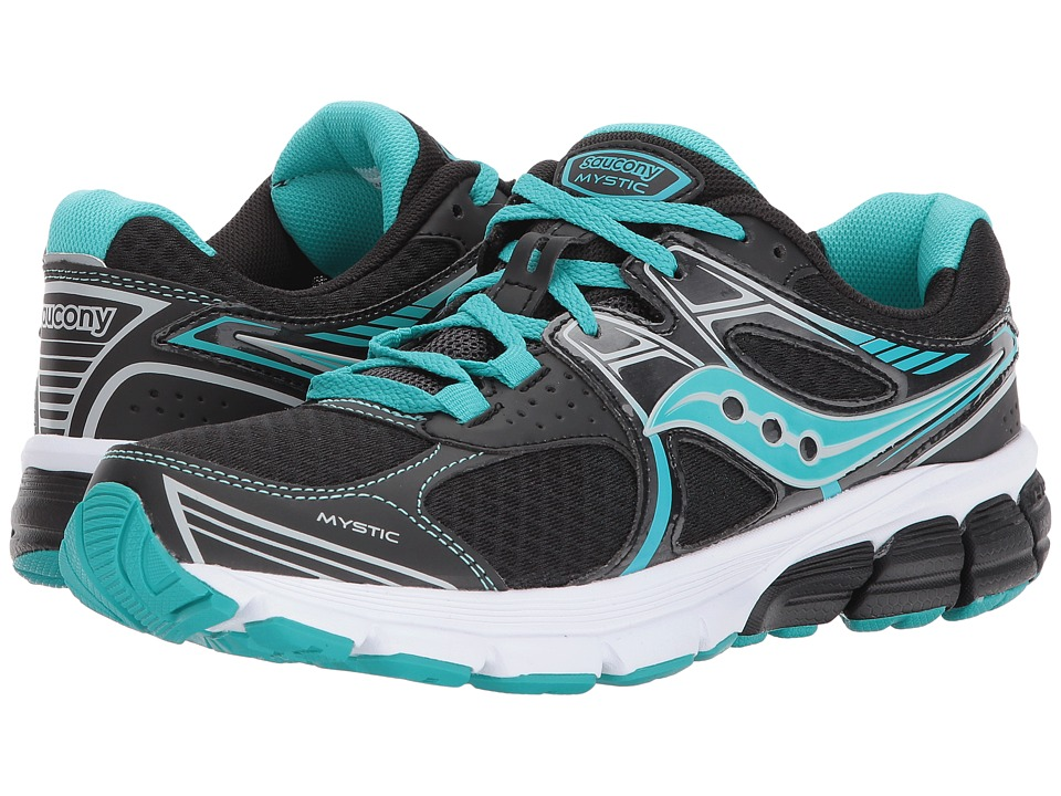Saucony - Grid Mystic (Black/Aqua) Women's Shoes