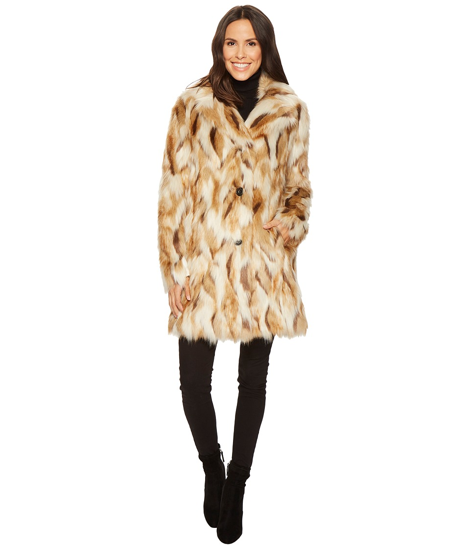 7 For All Mankind - Faux Fur Jacket (Taupe Multi) Women's Coat