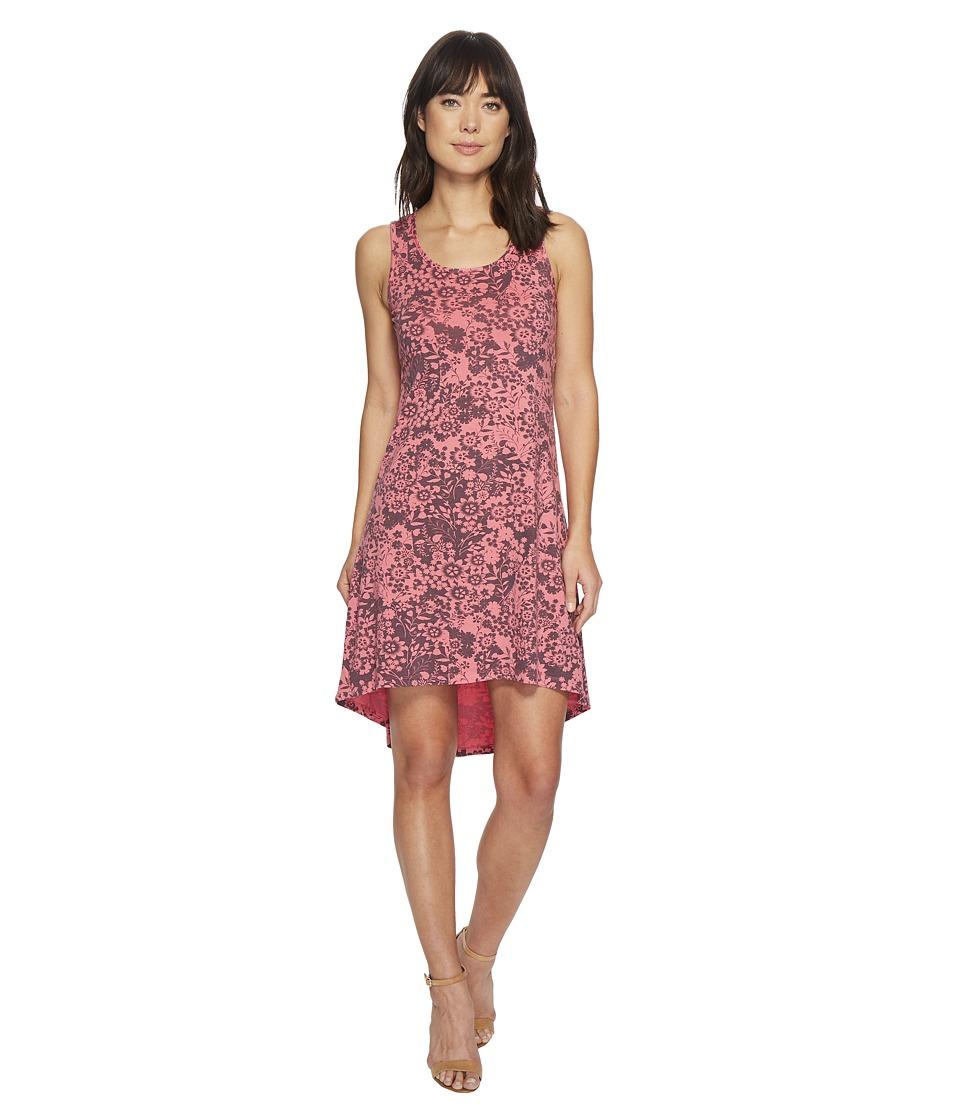 Mod-o-doc Cotton Modal Spandex Jersey Hi-Low Hem Tank Dress w/ Keyhole Back (Faded Red) Women
