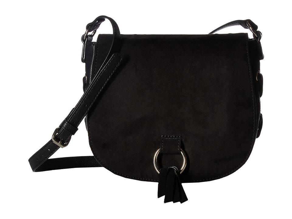 Nine West - Ring Decoder Crossbody (Black) Handbags