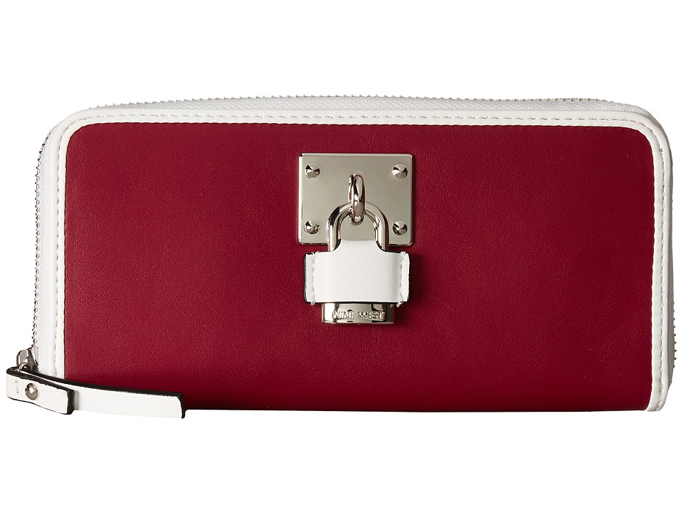 Nine West - Table Treasures - Zip Around (Ruby Red/Wine 1) Handbags