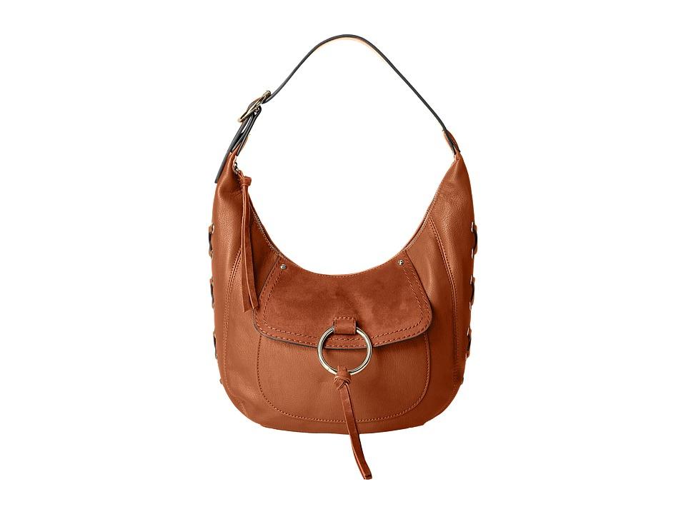 Nine West - Ring Decoder Small Hobo (Tobacco) Handbags
