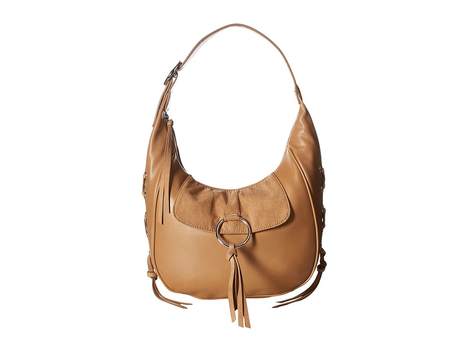 Nine West - Ring Decoder Large Hobo (Dark Camel) Handbags