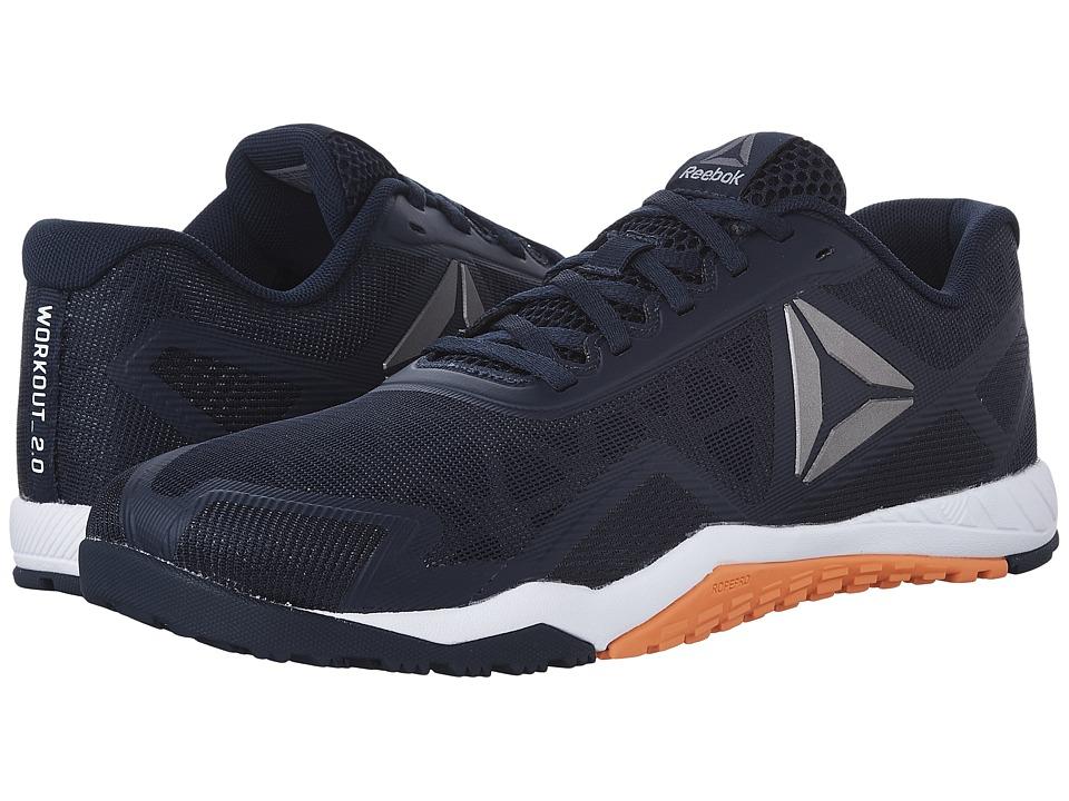 Reebok - ROS Workout TR 2.0 (Collegiate Navy/Wild Orange) Men's Cross Training Shoes