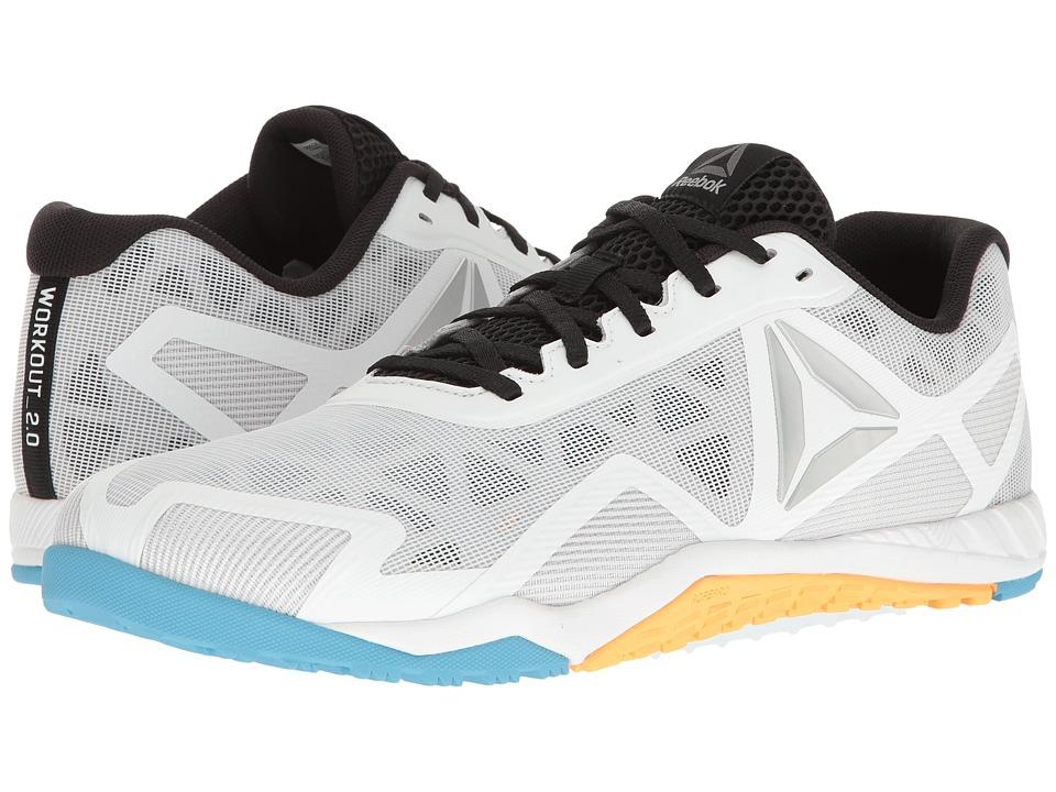 Reebok - ROS Workout TR 2.0 (White/Black/Blue Beam/Fire) Men's Cross Training Shoes