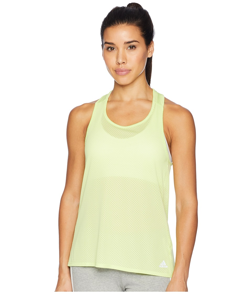 adidas Response Light Speed Tank Top (Semi Frozen Yellow/Colored Heather) Women