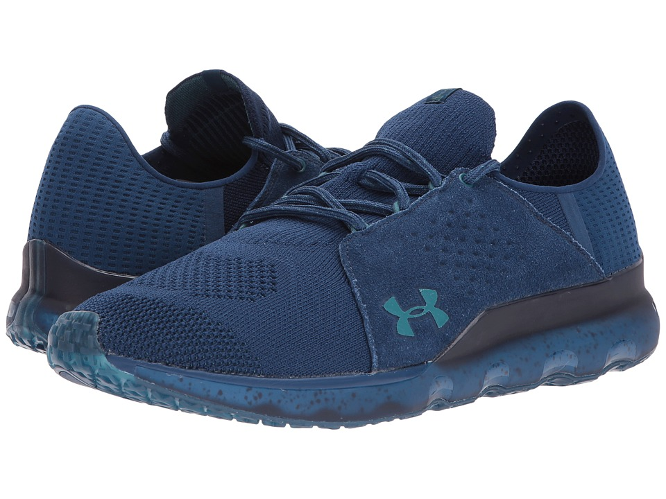 Under Armour - UA Threadborne Reveal (Blackout Navy/Blackout Navy/Marlin Blue) Men's Shoes