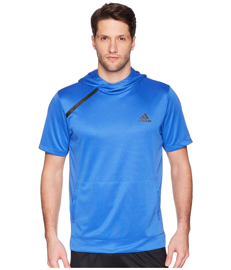 adidas Sport Shooter Tee with Hoodie (Hi-Res Blue S18) Men