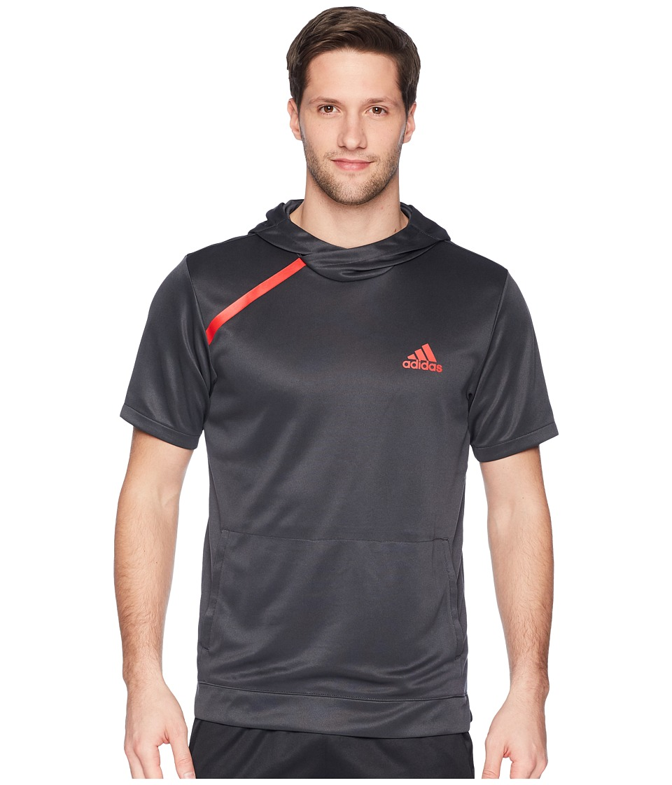 adidas Sport Shooter Tee with Hoodie (Carbon S18) Men