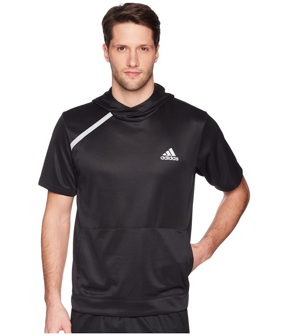 adidas Sport Shooter Tee with Hoodie (Black) Men