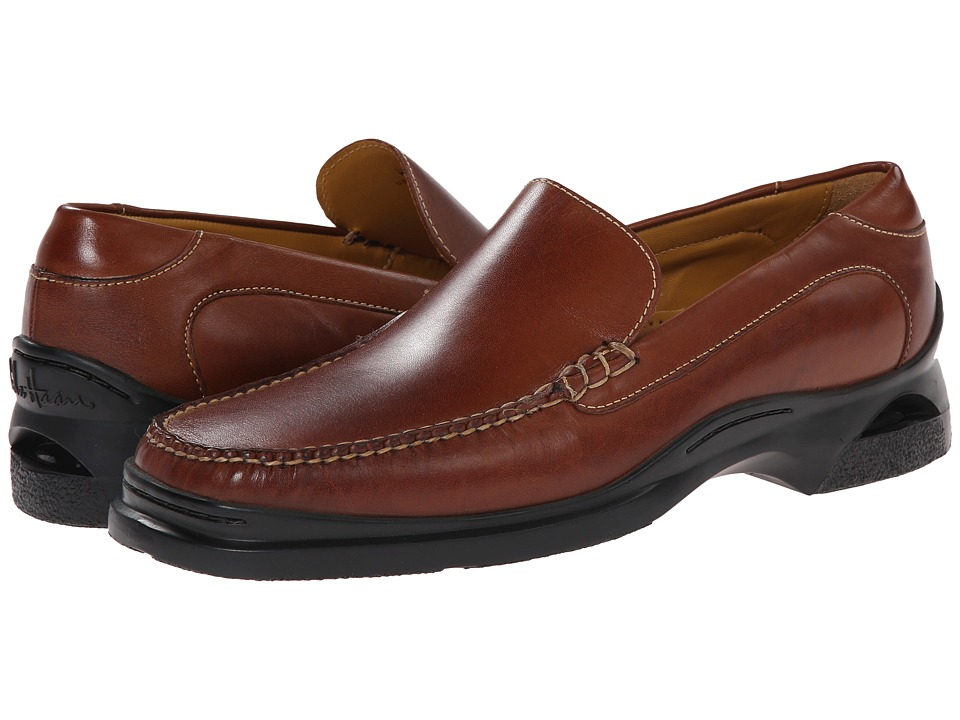 Cole Haan - Santa Barbara (Saddle Tan) Men's Slip-on Dress Shoes